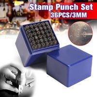36Pcs 3mm/5mm Metal Alphabet Numeric Punch Letter Number Stamp Press Marker Set