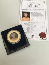 Westminster Coin. Diamond Jubilee 24 Carat Gold Plated Copper. One Dollar