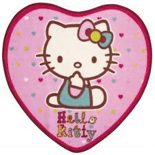 Nuevo Hello Kitty Folk en forma de corazón Niñas Rosa Dormitorio Alfombra alfombra Mat 76cm X 73cm