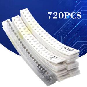 UK 720pcs 0805 SMD Capacitor Assorted Kit Samples Kit 36 Values 1PF~10UF(106)
