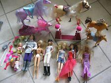 Konvolut Barbie Zubehör Kleider Accessoirs Pferde Puppen