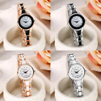 Women Fashion Wrist Watch Luxury Stainless Steel Quartz Analog Bracelet Watches