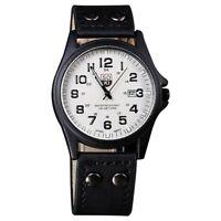 SOKI Vintage Classic Men's Waterproof Date Leather Strap Sport Quartz Watch E7I9