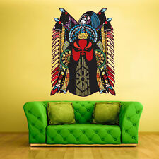 Color Wall Decals Sticker Mask Face Ethnic Religion Indian Antique (Col17)