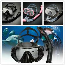 Men Women Scuba Diving Swimming Half face Mask Set Anti Fog Goggle With Snorkel