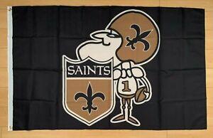 New Orleans Saints 3x5 ft Flag Banner NFL Retro Vintage Throwback