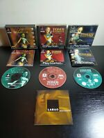 3 x PS1 Tomb Raider Games Bundle 1 2 3 Boxed + Complete Playstation One PAL GC