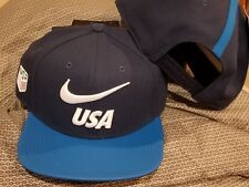 c9167e5b871 NIKE TEAM USA FLAT BILL SNAPBACK HAT NAVY WHITE BLUE 897390-410