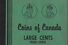 Large Cents 1902-1920 Coins of Canada Meghrig Album Folder NOS