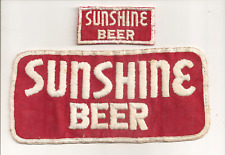 """2 1960""""S SUNSHINE BEER PATCHES   READING BREWING COMPANY READING PENNSYLVANIA"""