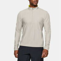 Under Armour Mens Qualifier Half Zip Top Sand White Sports Gym Running