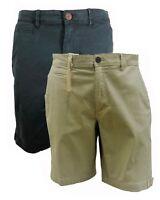 Mens Ex-Red Head Plain Casual Super Stretchy Chino Shorts Botom Knee Length Pant