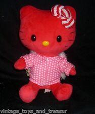 "10"" BUILD A BEAR RED HELLO KITTY SMALLFRYS LIMITED ED STUFFED ANIMAL PLUSH TOY"