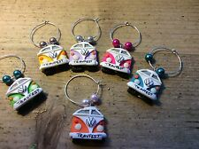 wine charms 6 Camper vans Personalised Wedding Dinner Party Handmade Stag Hen