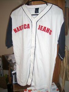 Nautica Jeans Co. Boy's Sz XL / 20 Short Sleeve Baseball Jersey ~ 100% Cotton