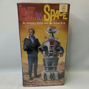 POLAR LIGHTS LOST IN SPACE DR. ZACHARY SMITH AND ROBOT B-9  OPEN BOX SEALED PART
