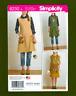 Apron Dress & Tabard Sewing Pattern~Dottie Angel (Sizes XS-XL) Simplicity 8230