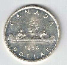 CANADA 1954 FWL VOYAGEUR SILVER DOLLAR QUEEN ELIZABETH II CANADIAN SILVER COIN