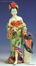 Ancient Qing Dynasty Concubine Porcelain / Ceramic Figurine