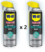 2 x WD40 Specialist White Lithium Grease 400ml Lubricant