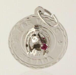 Las Vegas Nevada Charm Souvenir Travel - 925 Sterling Silver Pendant Rhinestone