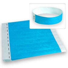 "3/4"" Tyvek Wristbands Neon Blue-500 Count"