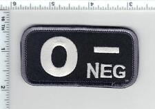 O-NEG (NEGATIVE) BLOOD TYPE USA MEDIC ARMY SWAT PATCH W/ VELCRO® BRAND FASTENER