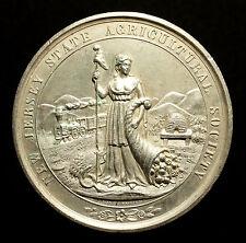 USA, Große Prämien Silbermedaille o.J. (nach 1840), New Jersey Agricultural, RR!