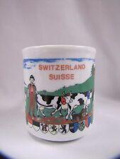 Melpe Switzerland Mug Suisse Souvenir Mug Porcelain Coffee Mug Melpe Bulle