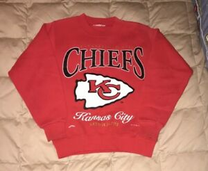 Vtg 1995 KC Chiefs Football Crewneck Sweatshirt Boys Established 1960  Arrowhead