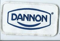 DANNON employee patch Allentown PA food products co. 2-1/2 X 4-1/2 #1096