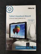 """iWORLD Tablet Headrest Mount - Universal Tablet Holder for Car - Swivels 7-11"""""""