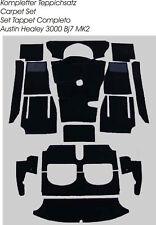 Black velours carpet kit for Austin Healey 3000 MK2 BJ7  LHD  1962-1963