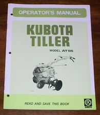 Kubota Model AT55 Tiller Operators Manual