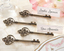96 Victorian Style Key to my Heart Bridal Wedding Favor Place Card Holder