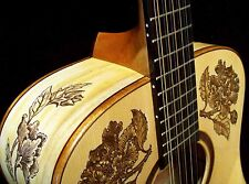 """Blueberry """"Special Order"""" Floral Motif 12-String Dreadnought Acoustic Guitar"""