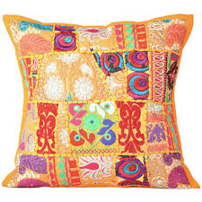 """Cover Indian Patchwork Cushion Pillow Decor Vintage Case Home Handmade Throw 16"""""""