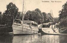 15742/ Foto AK, Trollhättan, Nya Slussarna, ca. 1910