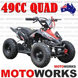 49CC QUAD ATV Bike Motoworks SPORTS Pocket Gokart 4 Wheeler mini Buggy kids red