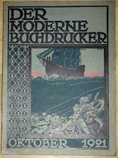 Der moderne Buchdrucker Heft 10/1921 Ottmar Mergenthaler Linotype Berlin