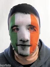 Completo Máscara SEIS NACIONES pintado diseño Irlandés Bandera Disfraz Tela