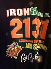 1998 Cal Ripken Jr Baltimore Orioles Consecutive Game Streak Starter Tshirt