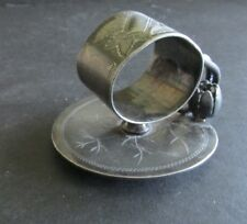Victorian  Water Lily Leaf Base Napkin Ring Simpson Hall Miller & Co.c.1890's