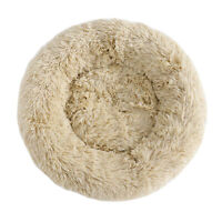 Round Pillow Cuddler for Medium Small Dogs Faux Fur Dog Beds Machine Washable