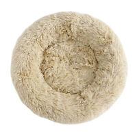 Fur Round Donut Cuddler Cushion Bed Cozy Sleep Machine Washable Non-Slip Bottom