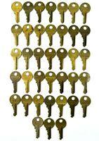 LOT of 38 Vtg MASTER Lock Pad Lock Keys Round Top