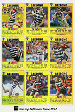 2008 AFL Teamcoach Trading Card Gold Team Set Geelong (12)
