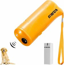 New listing Frienda Led Ultrasonic Dog Repeller and Trainer Device 3 in 1 Anti Barking Stop