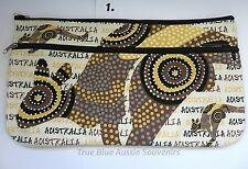 3x Australian Souvenir Large Canvas Pencil Case - Bulk Savings - 5 Designs