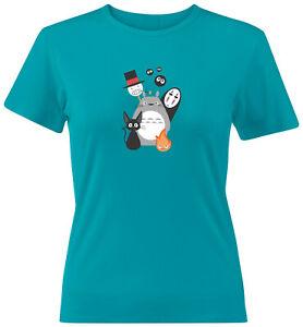 Juniors Teen Tee T-Shirt Gift Studio Ghibli Spirited Away Totoro Howl Ponyo Kiki